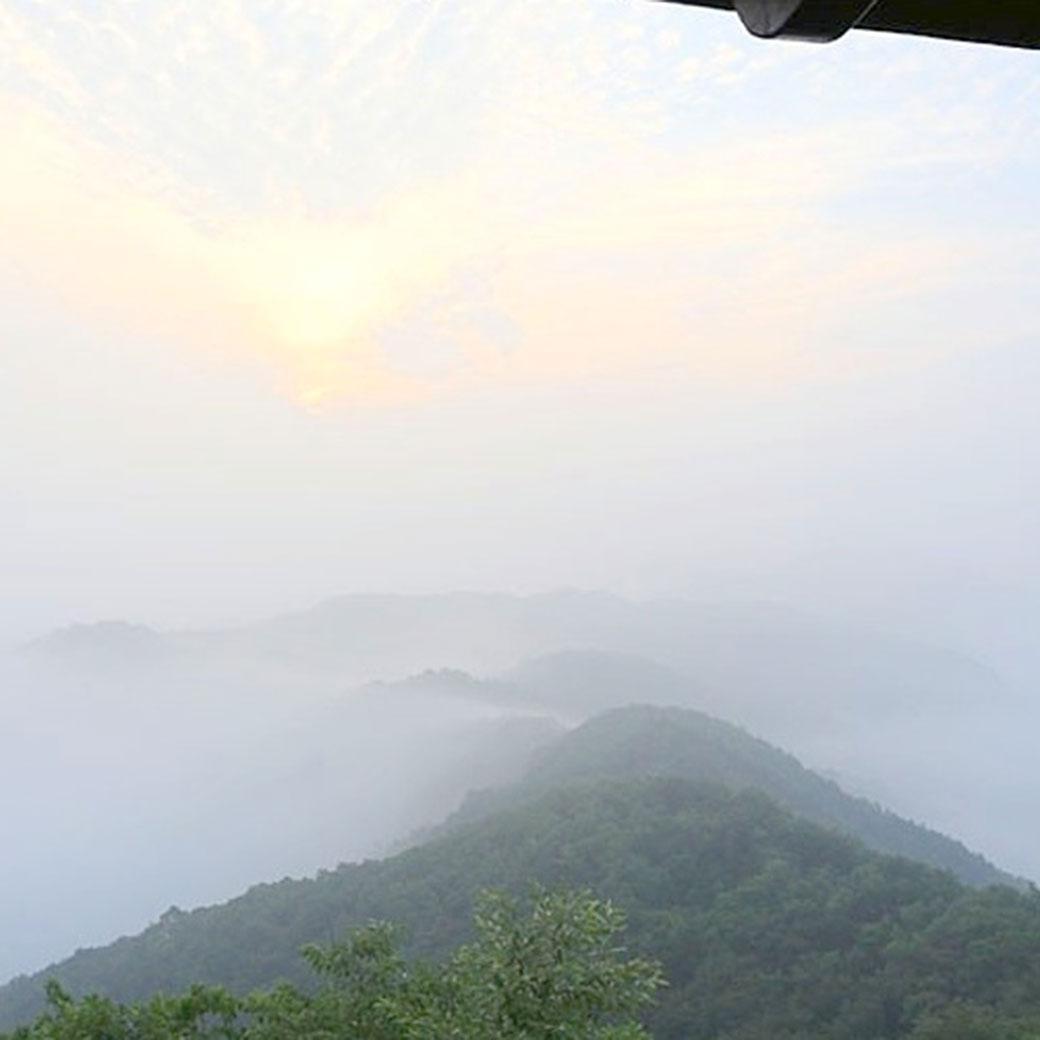 A beautiful sunrise from Gamram Mountain Pavilion